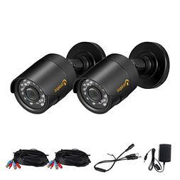 Anlapus 2pack 720P 36 Infrared LEDs Had IR Cut 100feet/30m N