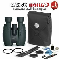 Canon 10x32 is Image Stabilized Binocular Starters Bundle