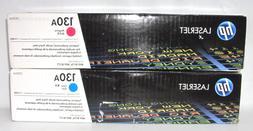 HP 130A CF351A, CF353A GENUINE OEM, SEALED TONER Cartridges,