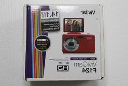 Vivitar 14MP Digital Camera w/ Flip Screen - VF124-RED - New