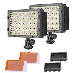 NEEWER 2-Pack 160 LED CN-160 Dimmable Ultra High Power Panel