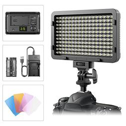 LED Video Light, ESDDI 176 LED Ultra Bright Dimmable Camera