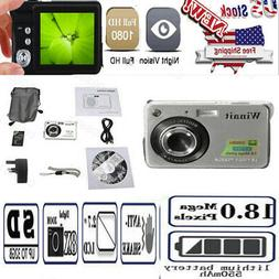 2.7 inch LCD Sliver CMOS Screen Rechargeable  HD 720P Digita