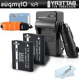 2 Pack Battery And Charger Kit Bundle For Olympus TOUGH TG-T