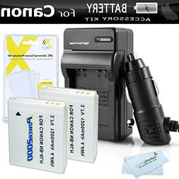 2 Pack Battery And Charger Kit For Canon PowerShot SX280 HS,