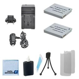 2 NB-4L Batteries Replacement + Car/Home Charger For Canon P