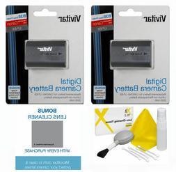 2 Pack Vivitar LP-E6 Battery for Canon EOS Canon EOS R Mirro