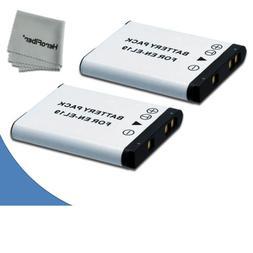 2 High Capacity Replacement Nikon EN-EL19 Batteries for Niko