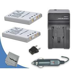 2 High Capacity Replacement Nikon EN-EL5 Batteries with AC/D