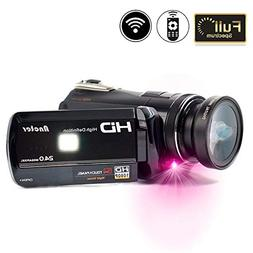 2018 Wifi Full Spectrum Camcorder, 1080P Full HD 30FPS Infra