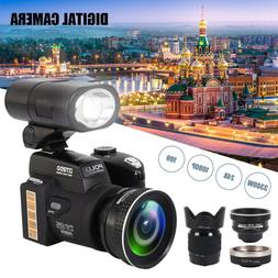 33MP 1080P 30fps FHD 8X Digital Camera + Wide Angle 24X Zoom