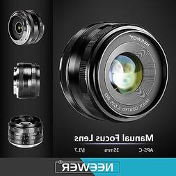 Neewer 35mm f/1.7 Manual Focus Fixed Lens for FUJIFILM APS-C