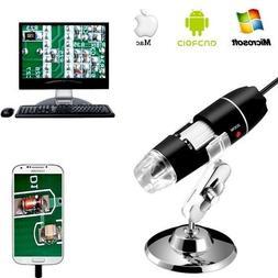 Jiusion 40 to 1000x Magnification Endoscope, 8 LED USB 2.0 D