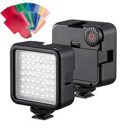 49 LED Video Light Panel Flash + 20pcs Gel Filter + Adjustab