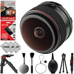 Opteka 6.5mm f/2 HD MF Fisheye Lens for Canon EOS-M Mount AP