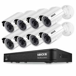 ZOSI 720P HD-TVI 8 Channel Security Camera System,1080N HD S