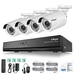 SANNCE 8Ch 1080P Network POE Video Security System with Four