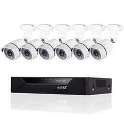 Tonton 8CH Full HD 1080P Security Camera System, 5-in-1 Surv