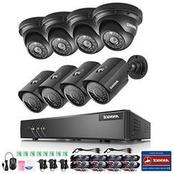 ANNKE H.264+ 8CH Security Camera System 1080P Lite Surveilla