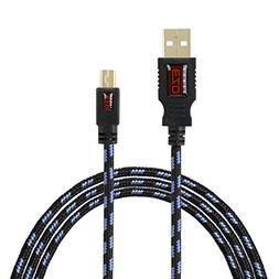 BIRUGEAR EZOPower 6 feet Mini-USB 5-Pin Tangled Free USB Dat