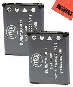 BM Premium 2-Pack Of LI-42B Batteries for Olympus Stylus 104