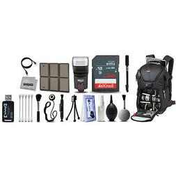 Deluxe Backpack + Photography Accessory Kit for Sony a 5000