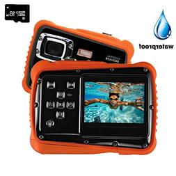 Digital Camera for Kids, YTAT Waterproof Kids Digital Camera