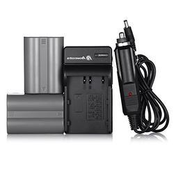 EN-EL3E Powerextra 2X Replacement Nikon EN-EL3E Battery & Ch