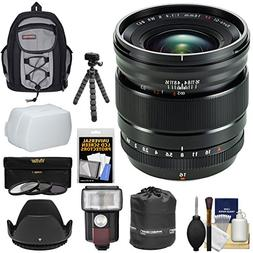 Fujifilm 16mm f/1.4 XF R WR Lens with Backpack + 3 Filters +