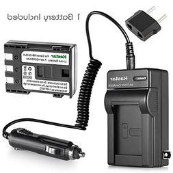 Kastar NB-2L NB-2LH Battery and Charger for Canon EOS Rebel