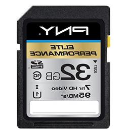 PNY Elite Performance 32 GB High Speed SDHC Class 10 UHS-I,