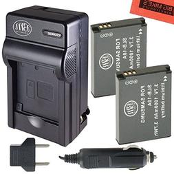 Pack of 2 SLB-10A Batteries and Battery Charger for Samsung
