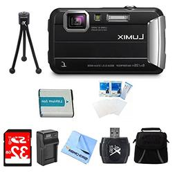 Panasonic LUMIX DMC-TS30 Active Tough Black Digital Camera 3