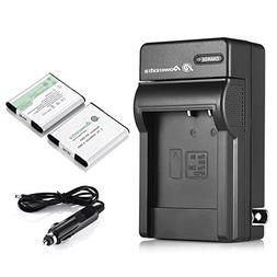 Powerextra 2 PCS Replacement Sony NP-BN1 Battery + Charger C