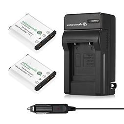 Powerextra 2x NP-45A NP-45B NP-45S Battery & Charger Compati