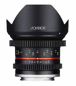 Rokinon Cine CV12M-MFT 12mm T2.2 Cine Fixed Lens for Olympus
