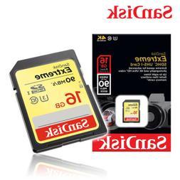 SanDisk 16GB Extreme SDHC UHS-I Memory Card - 90MB/s, C10, U