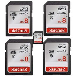 SanDisk Ultra 8GB Class 10 SDHC Memory Card Up to 40MB/s , P