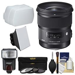 Sigma 24mm f/1.4 Art DG HSM Lens for Nikon DSLR Cameras with