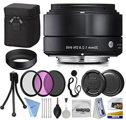 Sigma 30mm F2.8 DN Black Lens for Panasonic/Olympus Micro Fo