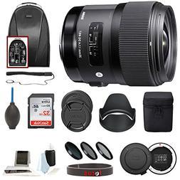 Sigma 35mm f/1.4 DG HSM Lens for Canon DSLR Cameras w/Sigma