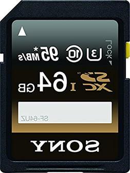 Sony 64GB High Performance Class 10 UHS-1/U3 SDXC up to 95MB