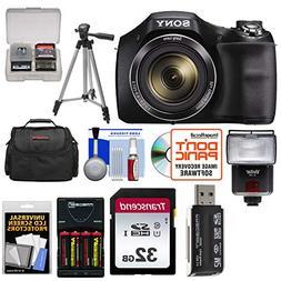 Sony Cyber-Shot DSC-H300 Digital Camera with 32GB Card + Bat