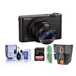 Sony Cyber-shot DSC-RX100 III Digital Camera, 20.1MP - Bundl