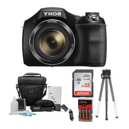 Sony Digital Camera Bundle Featuring DSCH300B, DSLR Holster