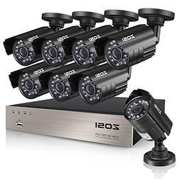 ZOSI 8-Channel HD-TVI 720P 1080N Video Security DVR Surveill