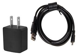 AC-UD11 Compatible AC Adapter/Charger + USB Cable for Sony D