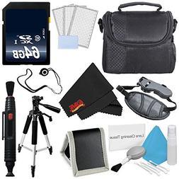 Accessory Kit for Nikon Coolpix B500,B700, P900, 64GB SDXC C