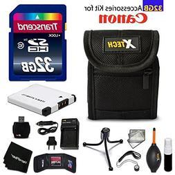32GB Accessory Kit for Canon PowerShot ELPH 360 HS, ELPH 350