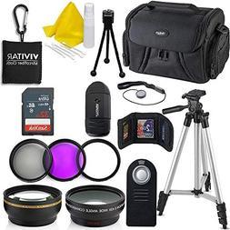 Professional 55MM Accessory Bundle Kit Nikon D3400 D5600 D33
